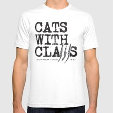 Cats With Claws concert t-shirt SMALL Mens Fitted Tee White