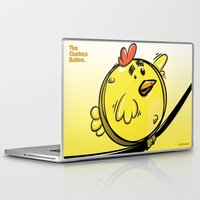ballon Laptop & iPad Skins featuring THE CHICKEN BALLON... by mabuna