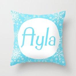 Ayla frozen Throw Pillow