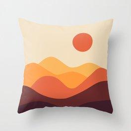 Geometric Landscape 21 Throw Pillow