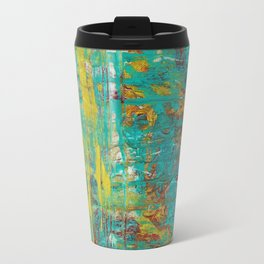 Abstract Copper and Gold Travel Mug