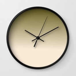 Antique White and Antique Bronze Ombre Colors Wall Clock