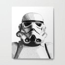 Stormtrooper Dotwork - Pointillism Fan Artwork Metal Print