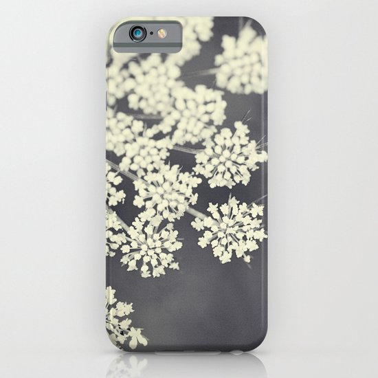 Black and White Queen Annes Lace iPhone & iPod Case