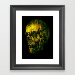 Melting Skull Framed Art Print