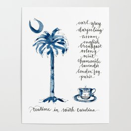 Teatime in South Carolina Poster