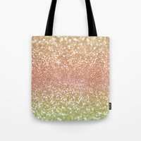champagne Tote Bags featuring Champagne Shimmer by Lisa Argyropoulos