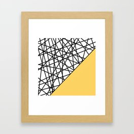 Lazer Dance YY Framed Art Print