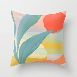 Shapes and Layers no.33 Throw Pillow