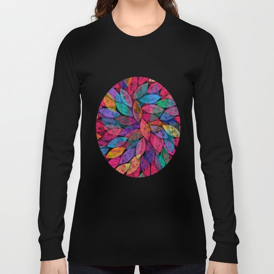 Abstract Colorful leaves III Long Sleeve T-shirt