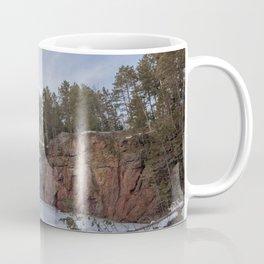 Northern Minnesota Frozen Quarry Landscape Coffee Mug