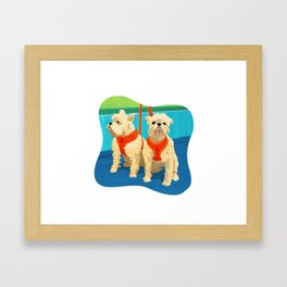 Cairn Terrier Dog Art Illustration Framed Art Print