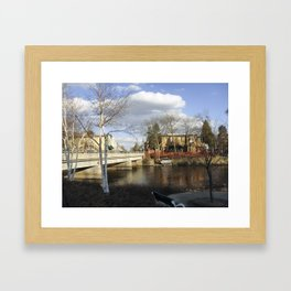 By the river 3 Framed Art Print