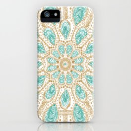 MMMOYSTERS Gold-Rimmed Oyster Mandala iPhone Case