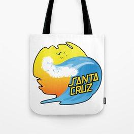 Surf Santa Cruz California Tote Bag