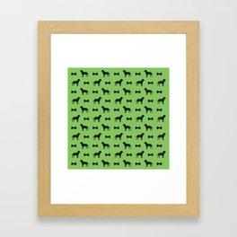 Dog and Bone - Labrador Mini (lime) Framed Art Print