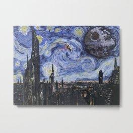 A Starry Wars Night Metal Print