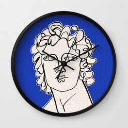 Alexander the Great statue Wall Clock