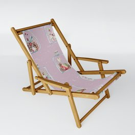 Christmas Pattern Pink Sling Chair