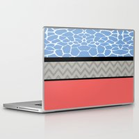 preppy Laptop & iPad Skins featuring Confused Preppy Prints by Raizhay Lough