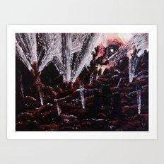 Dawn on the comet Art Print