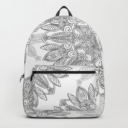 Silver Mandala Backpack