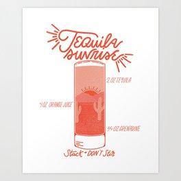 Tequila Sunrise Art Print