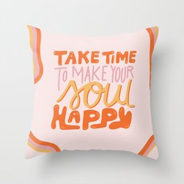Happy Soul Throw Pillow