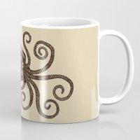 kraken Mugs featuring Kraken by D.J.R.B.