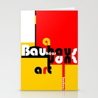 bauhaus Stationery Cards featuring Bauhaus Lamp by Simona Susnea