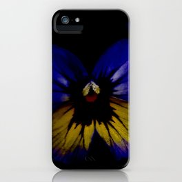 Dark Midsummer Pansies, Love Potion iPhone Case