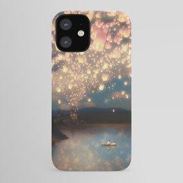 Love Wish Lanterns iPhone Case