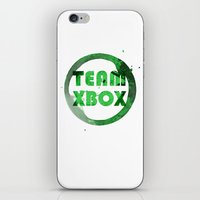 xbox iPhone & iPod Skins featuring Team XBox by Bradley Bailey