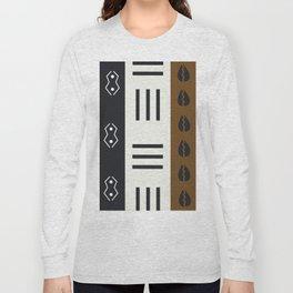 African Tribal Pattern No. 66 Long Sleeve T-shirt