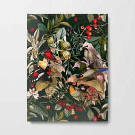 Floral and Birds XXV Metal Print