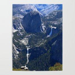 Vernal Falls And Nevada Falls Poster