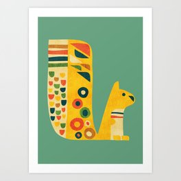 Century Squirrel Art Print