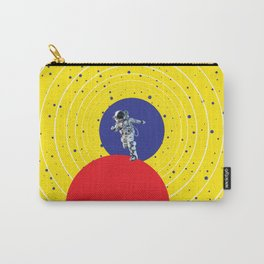 Lone Astronaut on an Atomic Mission - Yellow Carry-All Pouch