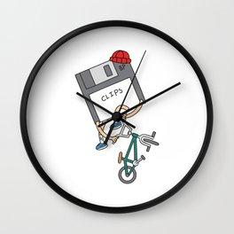 Floppy Disk Downside Wall Clock