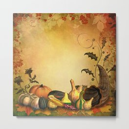 Thanksgiving Harvest Metal Print