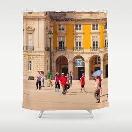 Lisbon Place architecture Shower Curtain