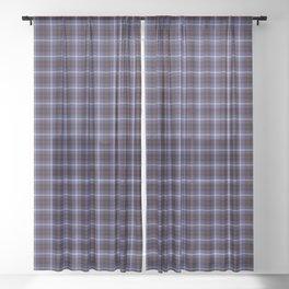 Hill Tartan Plaid Sheer Curtain