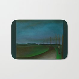Lost On A Dark Highway Bath Mat