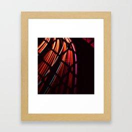 Streaks of Headlights at Night Framed Art Print