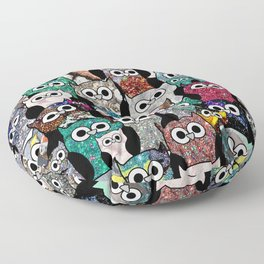 Gemstone Owls Floor Pillow