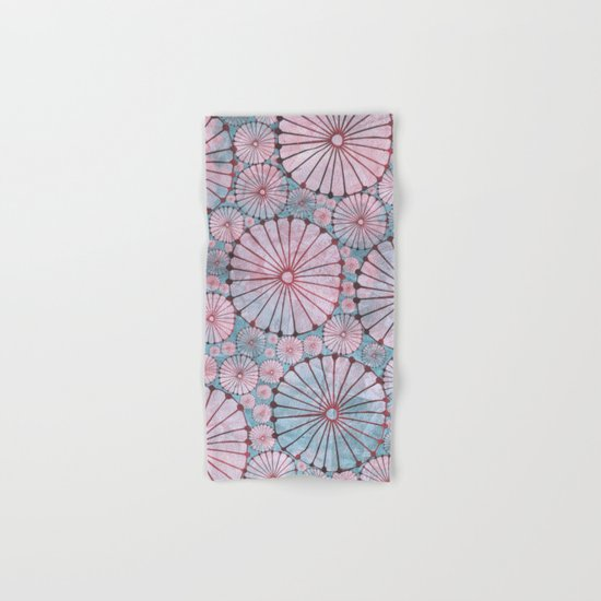 Abstract Floral Circles 3 Hand & Bath Towel