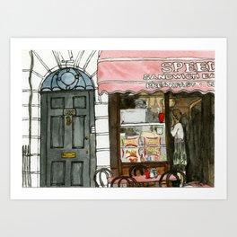 Speedy's Cafe Art Print