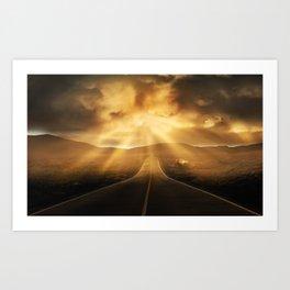Road califonia Art Print