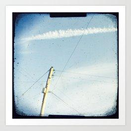 Crossed wires Art Print