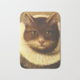 Cat In A Ruff Cute Victorian Art Bath Mat